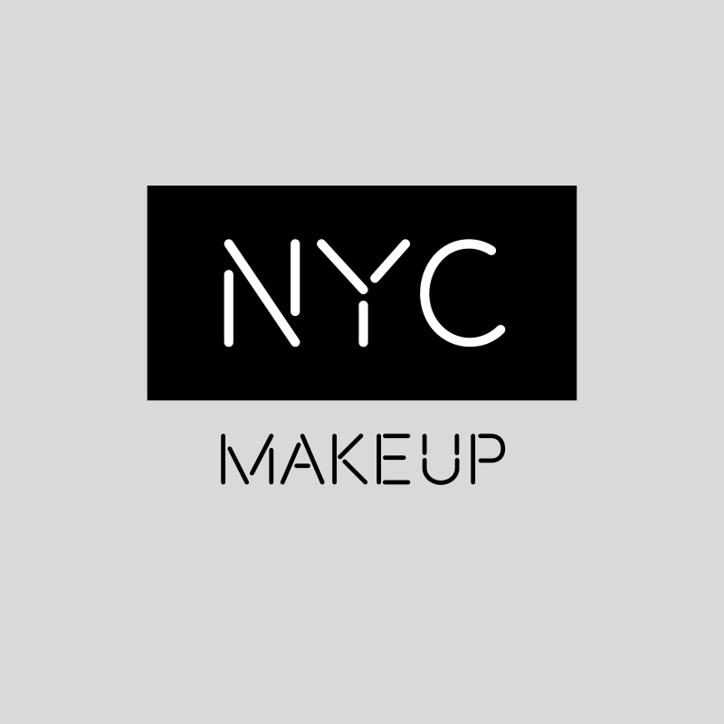 Black and White NYC Makeup Logo Design