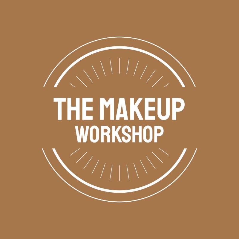 Golden Sand Circle Round MakeUp Workshop Logo Design
