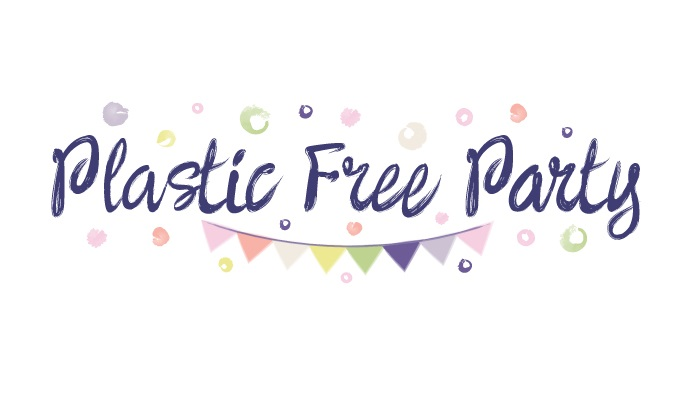 Plastic Free Party Watercolor Logo Design by ACK Design